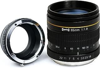 Opteka 85mm f/1.8 Manual Focus Aspherical Telephoto Portrait Lens for Sony NEX E-Mount a9, a7r, a7s, a7, a6500, a6300, a6000, a5100, a5000, NEX-7, NEX-6, NEX-5T, NEX-5R & Digital Mirrorless Cameras