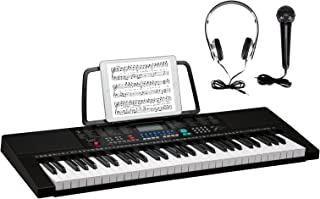 GLARRY 61-Key Portable Electronic Piano Keyboard w/LCD Scree