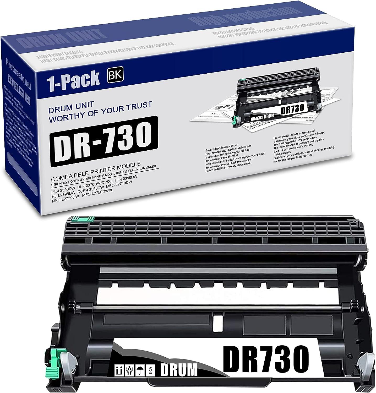 (Black,1-Pack) Compatible Drum Unit Replacement for Brother DR730 DR-730 DCP-L2550DW MFC-L2710DW MFC-L2750DW MFC-L2750DWXL HL-L2350DW HL-L2390DW HL-L2395DW Printer, Sold by Angelo.