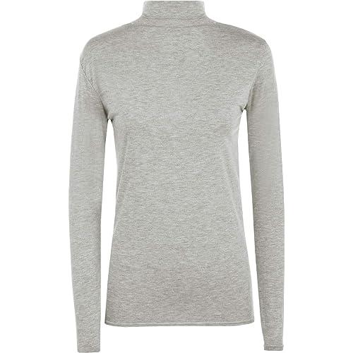 fdfcf72bb4d Ladies Women Stretch Plain Polo Turtle Roll Neck T Shirt Jumper Top Plus  Size
