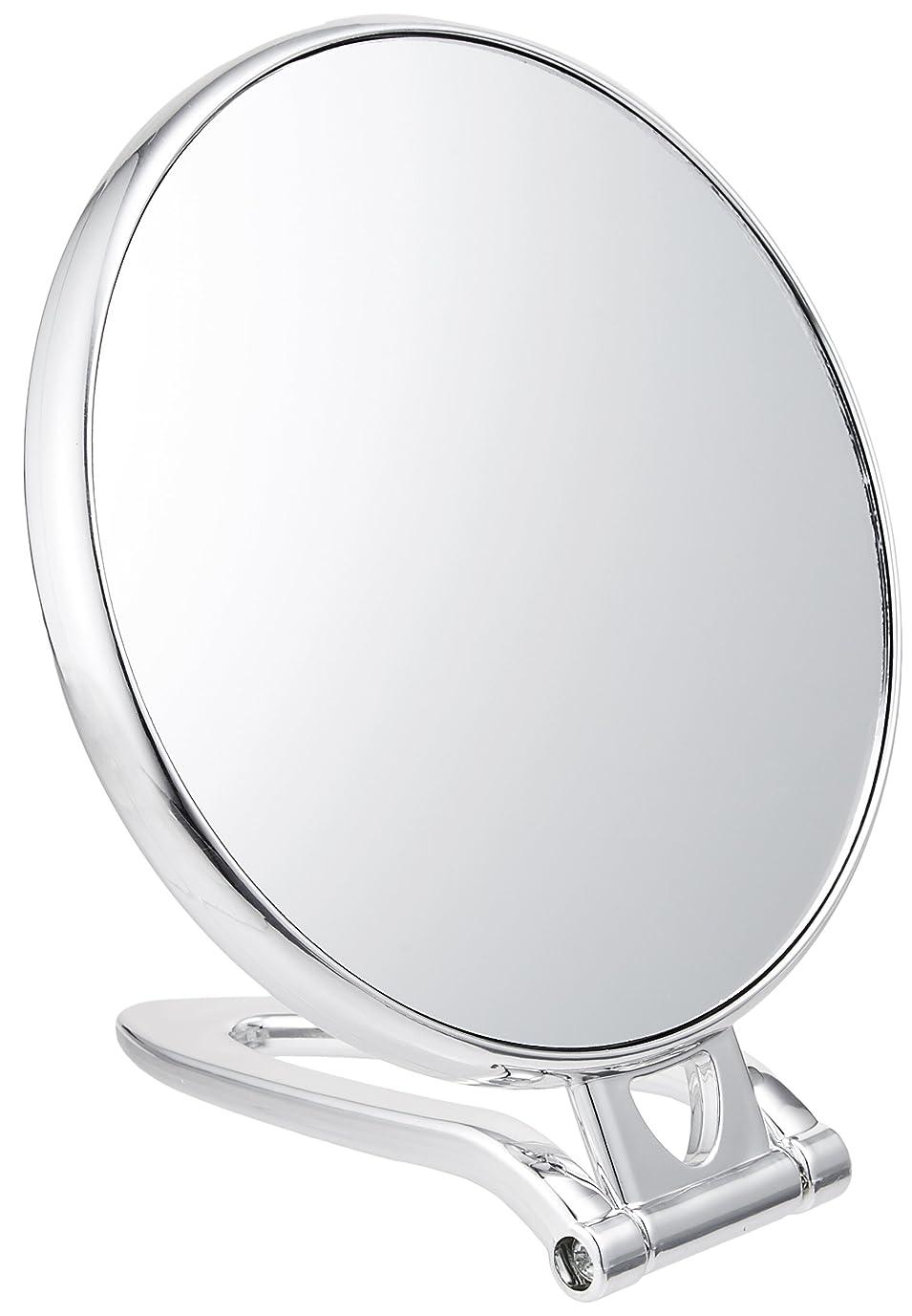 取り消す宿る調整拡大鏡付スタンドミラー(約2倍)シルバー