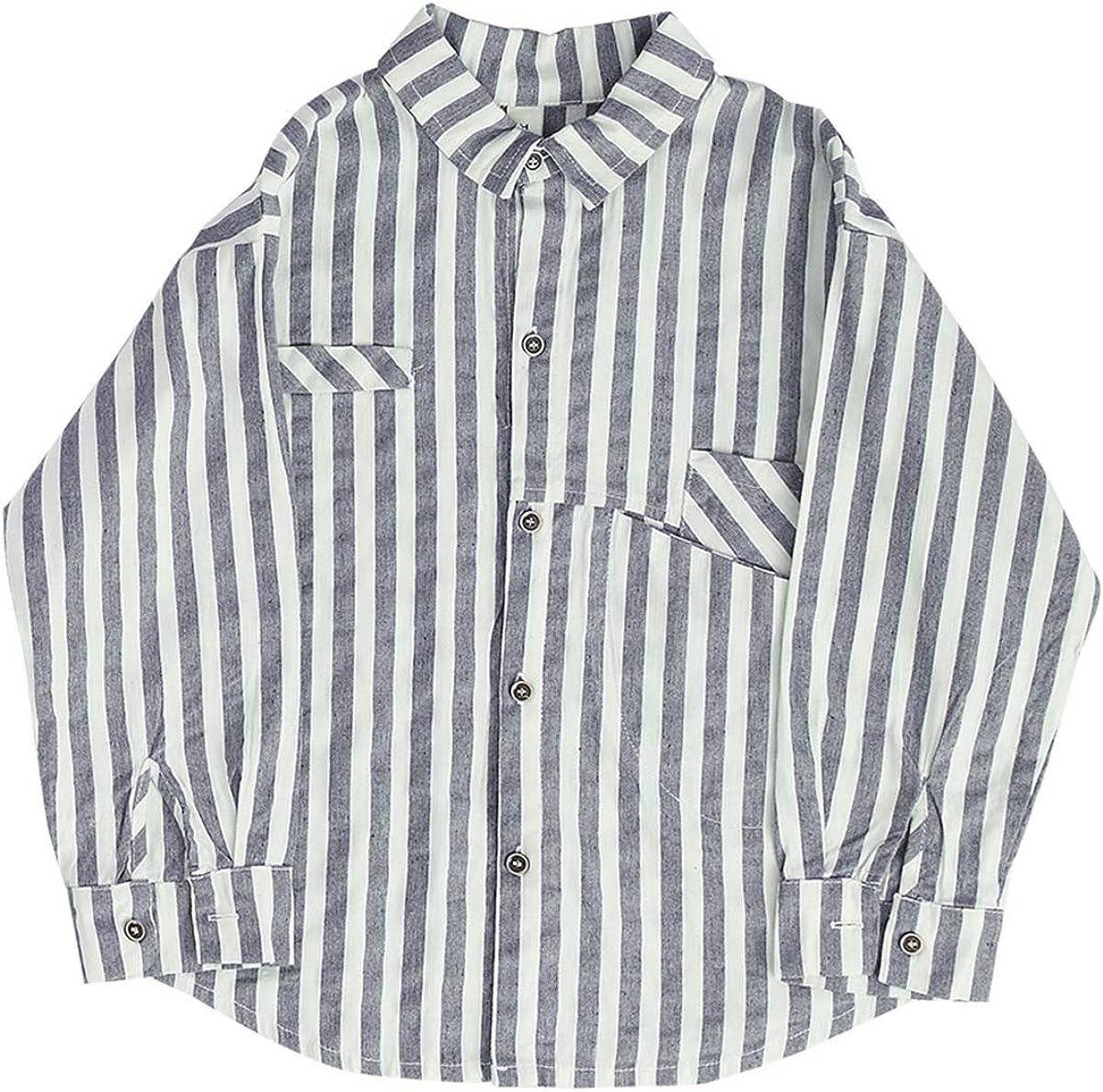 Mason Island Little Boys Kids Autumn Button Down Long Sleeve Shirt Toddler Loose Clothes