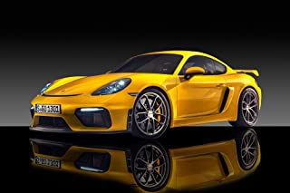 Porsche 718 Cayman GT4 - Fine Art Giclee Canvas Print Wall Art. Professional Gallery wrap Style and Ready to Hang Photo on Canvas Gallery Wrap Wall Display. (010) (20