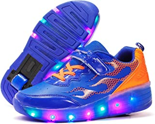EVLYN Kids Flash of Light Wheels Roller Skate Shoes LED Light Sneakers Shoes