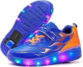 EVLYN Kids Flash of Light Wheels Roller Skate Shoes LED Light Sneakers Shoes