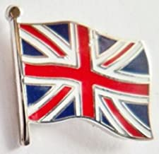 United Kingdom UK Union Jack Wavy Flag Small Enamel and Metal Pin Badge