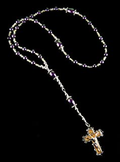 Rosary Eastern Orthodox Greek Chotki Handmade Purple Swarovski Pearls