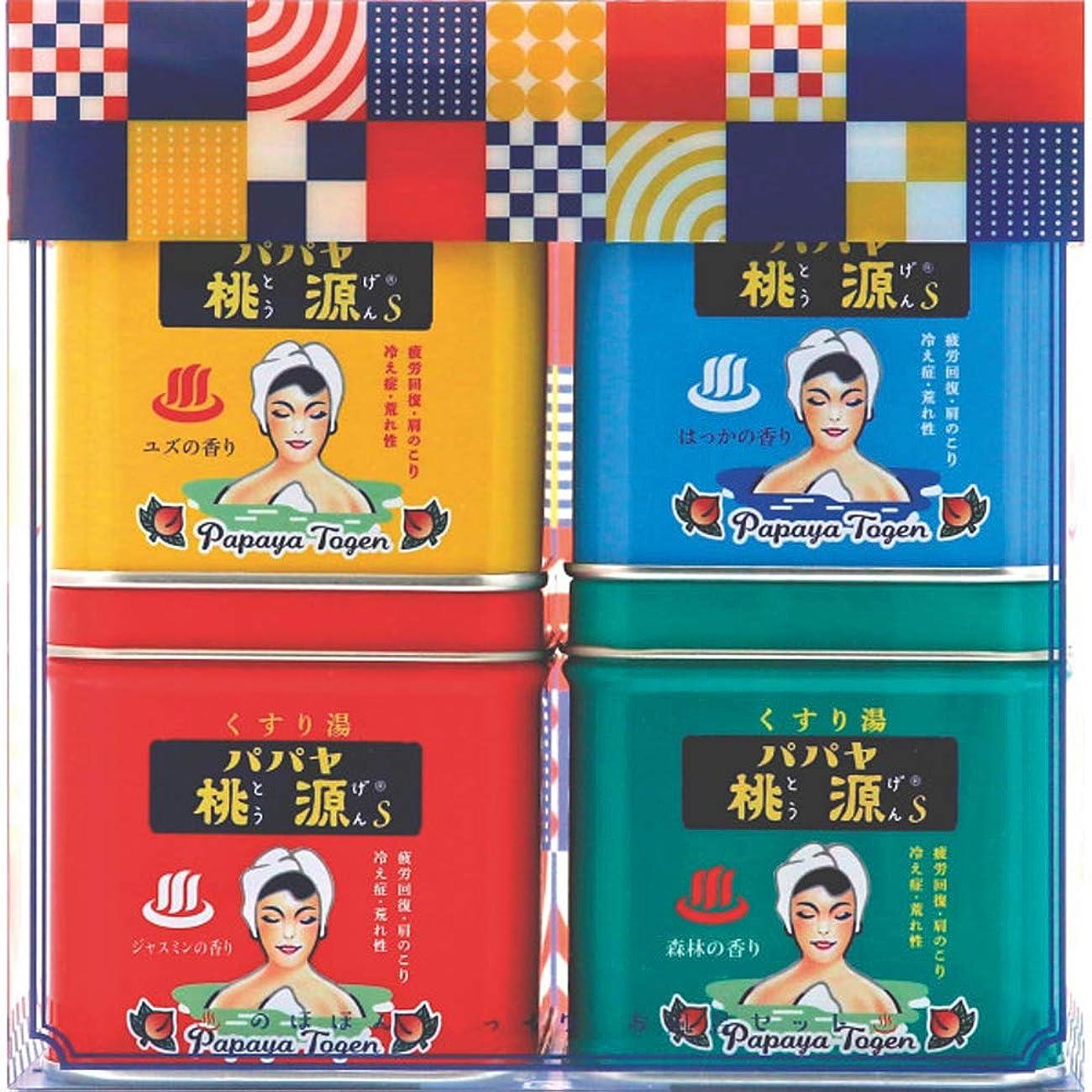 気候の山ながら無数のパパヤ桃源 のほほん湯っくりお風呂セットC (五洲薬品)