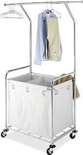 Whitmor 6894-3499-BB Cesta Redonda Comercial para Ropa Sucia, Centro de Lavado, Cromado, Laundry Center, 1