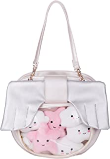 Fascinating Clear Candy Leather Handbag Unicorn Party Favor Bags Cute Backpacks For Girls Angel wings Crossbody Bags