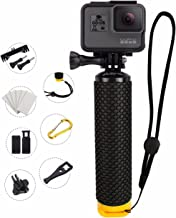 MiPremium Waterproof Floating Hand Grip Compatible with GoPro Cameras Hero Session Black Silver Hero 2 3 3+ 4. Handler Plus Free Handle Mount Accessories for Water Sport and Action Cameras (Yellow)