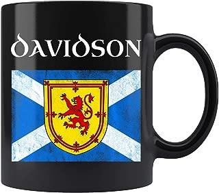 Davidson Scottish Clan Name Coat Arms Lion Flag Mug Coffee Mug 11oz Gift Tea Cups 11oz