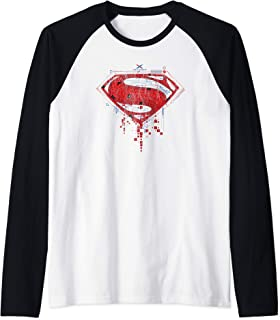 DC Comics Batman v Superman Geo Logo Manche Raglan