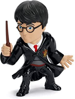 Nano Metalfigs Harry Potter in School Uniform with Wand Metals Die-Cast Collectible Toy Figure, Black, 10cm