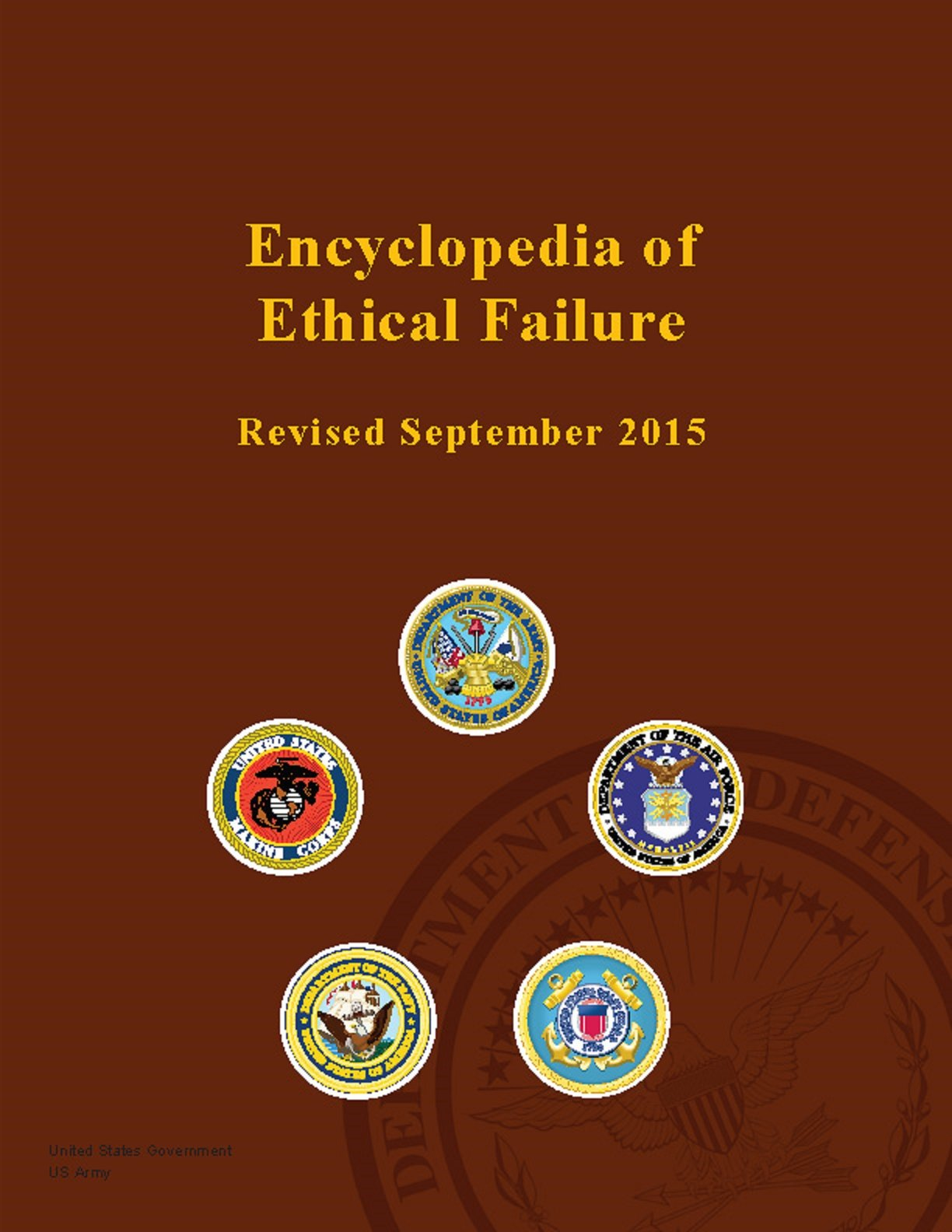Image OfEncyclopedia Of Ethical Failure - Revised September 2015
