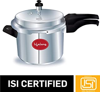 Lifelong Outer Lid Pressure Cooker, 5 Litre (ISI Certified, Induction and Gas Compatible)