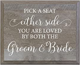 LifeSong Milestones Pick a Seat Decorative Wedding Party Signs for Ceremony and Reception for Bride and Groom (8x10)