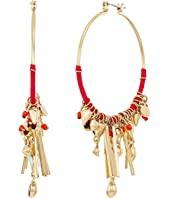 Rebecca Minkoff - Gemma Charm Hoop Earrings