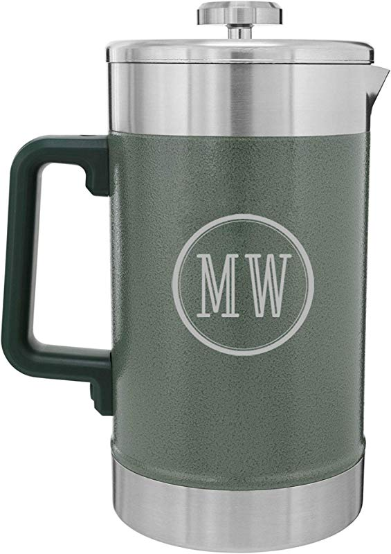 Personalized Stanley Classic Stay Hot French Press 48oz Hammertone Green With Free Laser Engraving B Two Initials