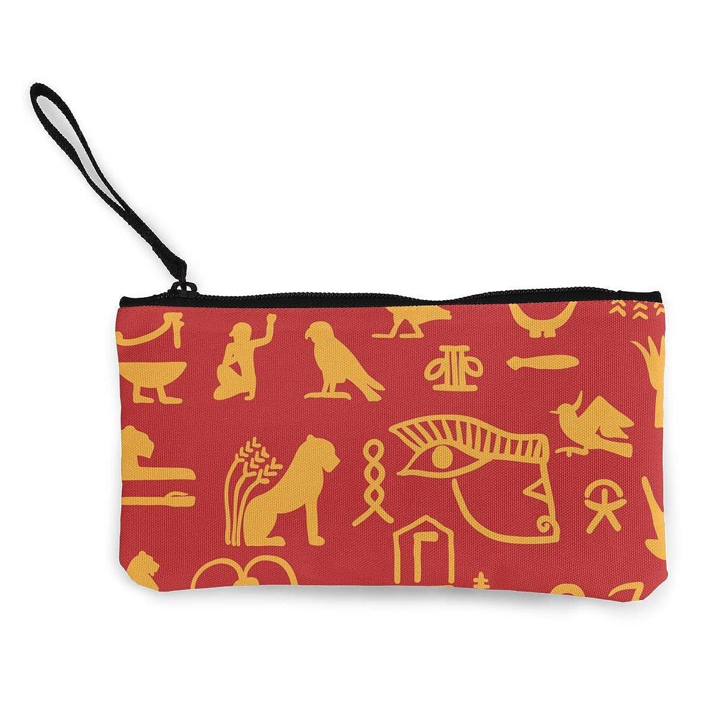 スクラップブックモッキンバード滝ErmiCo レディース 小銭入れ キャンバス財布 古代で生活を描く 小遣い財布 財布 鍵 小物 充電器 収納 長財布 ファスナー付き 22×12cm