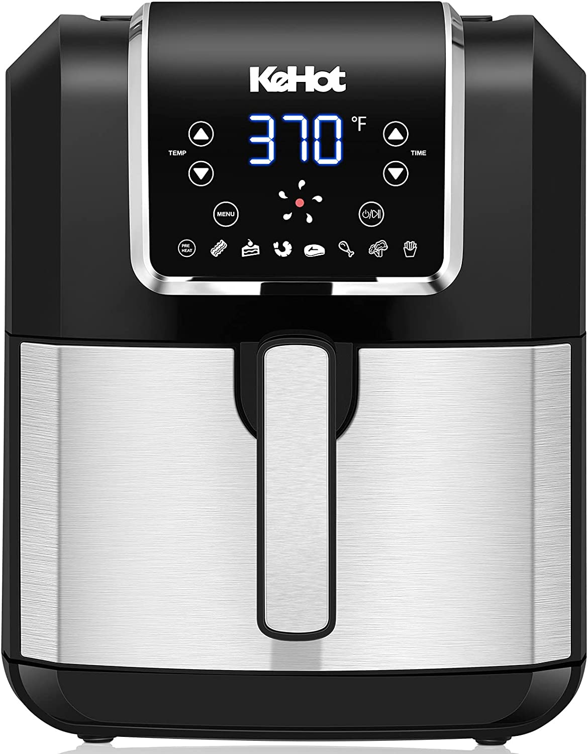 8-in-1 Air Fryer, 6.8 Quart Air Fryers with Built-in Smart Cooking Programs, 1700-Watt Hot Airfryer Digital Touch screen and Temperature Control, ETL Certified