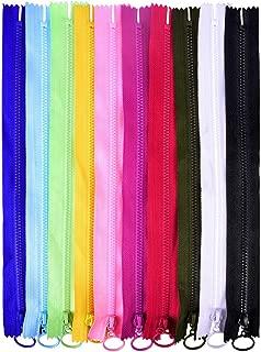 garnimex 50 cm x 5 Pezzi Non divisibile Colore 39 Nero Chiusura Lampo