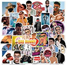 Bad Bunny Stickers 50 Pcs Bad bunny-50 Larger Vinyl Waterproof Stickers for Laptop,Bumper,Water Bottles,Computer,Phone,Hard hat,Car Stickers and Decals,Bad Bunny Stickers for Hydro