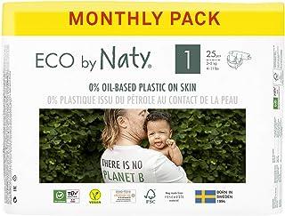 Eco by Naty, Maat 1 luiers, 4-pack (4 x 25 stuks)