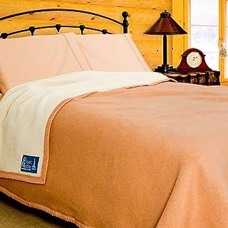 Poyet Motte Aubisque 500GSM Heavyweight 100-Percent Wool Blanket (King, Doe/Natural