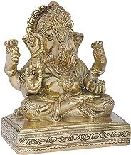 Bhagawan Ganesha Seated on Chowki - Brass Statue