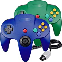 $26 » N64 Controller, King Smart Wired N64 Controllers with Upgraded Joystick for Original Nintendo 64 Console (Blue and Green)