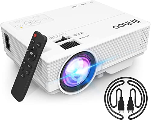 """2020 Latest Projector, Mini Video Projector with 5500 LUX, 1080P Supported, Portable Outdoor Movie Projector, 176"""" Di..."""