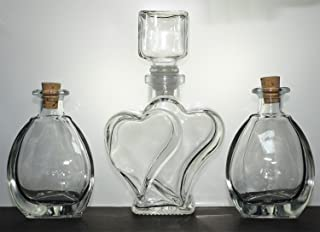 The Original Sand Wedding Unity Heart Ceremony Vase with Sculpted Glass Stopper