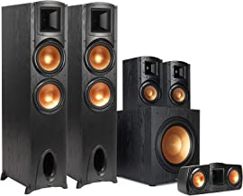 """Klipsch Synergy Black Label F-300 5.1 Powerful and Efficient Home Theater System with 12"""" Front-Firing Subwoofer and Tract..."""