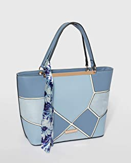 Blue Madison Scarf Tote Bag