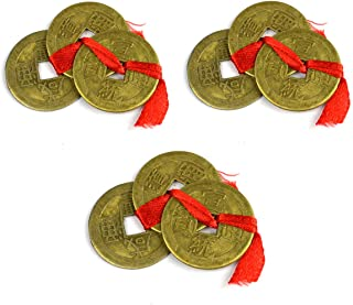 Reiki Crystal Products Feng Shui Set of 9 Lucky Coins for Wealth and Achievement Good Luck & Prosperity