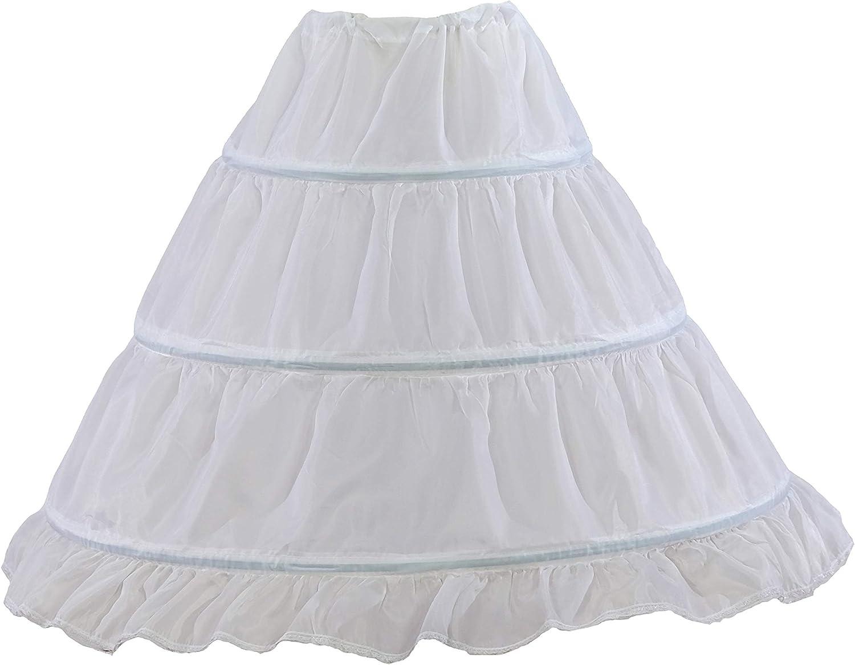 Cinda Clothing Baby Girls' Flower Bridesmaid 1 Layer 3 Hoop Underskirt Petticoat