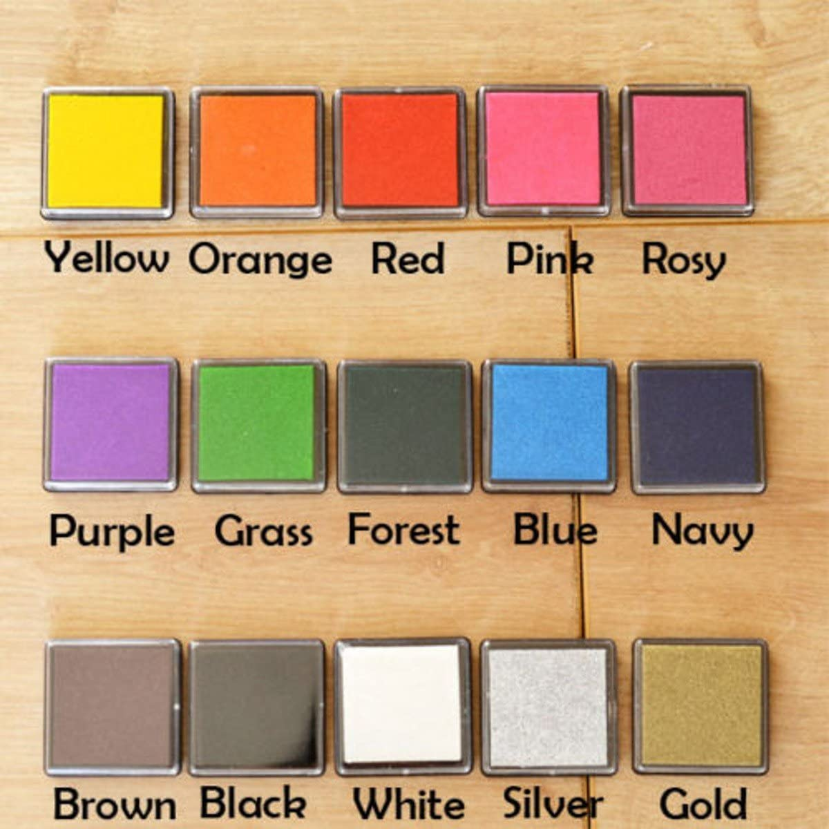 WellieSTR Set of 15 Color Mini Rubber Pad P Stamps National Ranking TOP4 products Ink For Craft