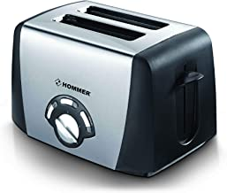 Hommer 2 Slice Toaster, 850 Watts - HSA206-03, Black, Mixed Material