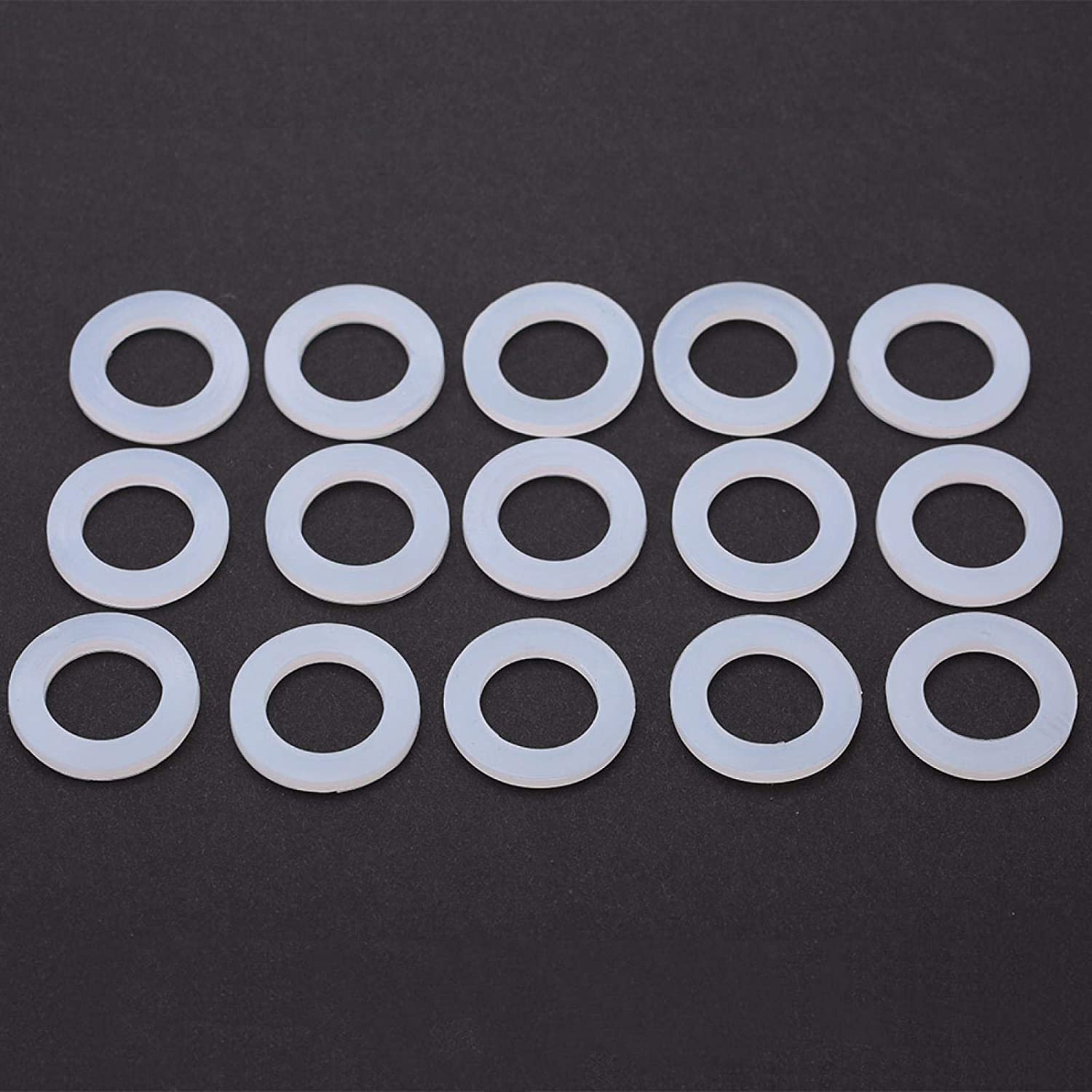 Silicone Sealing Rings,15Pcs O-rings Water Heater Seal Silicon Flat Gaskets Washer for Most Water Heaters,Avirulent Insipidity 1