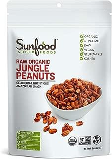 Sunfood Jungle Peanuts, 8 Ounces, Organic, Raw