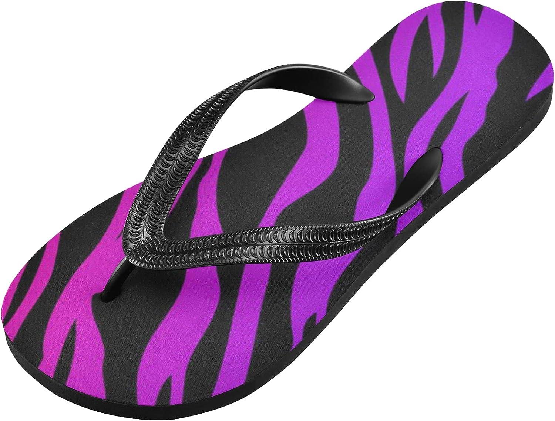 xigua Zebra Print Wallpaper Flip Flops Non-slip Light-Weight Comfort Flip Flop Sandal natural rubber Thong Sandals Indoor and Outdoor Shoes for Men and Womens.