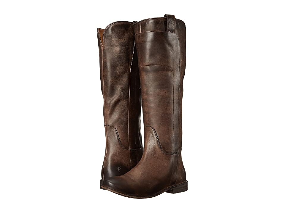 Frye Paige Tall Riding (Slate Antique Pull Up) Women