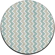 Round Area Rug Wave Pattern Casual Non-Slip Living Bedroom Rug Front Door Mat Indoor Outdoor Mats Rug Pads