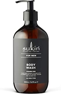 Sukin for Men Body Wash, 16.9 Ounce