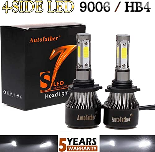high quality 9006 HB4 LED Headlight Bulbs Conversion Kit 16000LM Super Bright 2021 High or Low outlet sale Beam 360 Degree(4 Sides) Car Light Replacement Plug and Play outlet sale