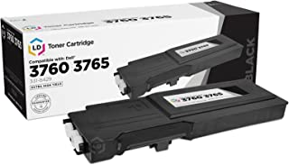 LD Compatible Toner to Replace Dell 331-8429 (W8D60) Extra High Yield Black Toner Cartridge for Dell C3760 and C3765 Laser Printers