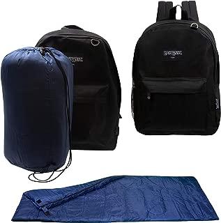 Bulk Case of 10 Backpacks and 10 Sleeping Bags - Emergencies, Homeless, Charity