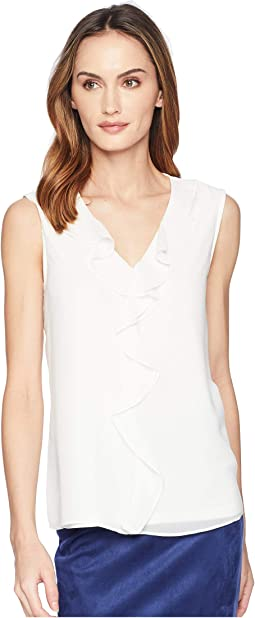 Sleeveless w/ Ruffle Front Top
