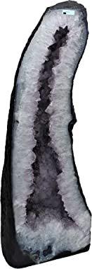 """DMS Store Amethyst Crystal Geode Stone from Brazil R.2447 (Dimensions: 31.5"""" x 11"""" x 8"""", 109.89 lbs)"""